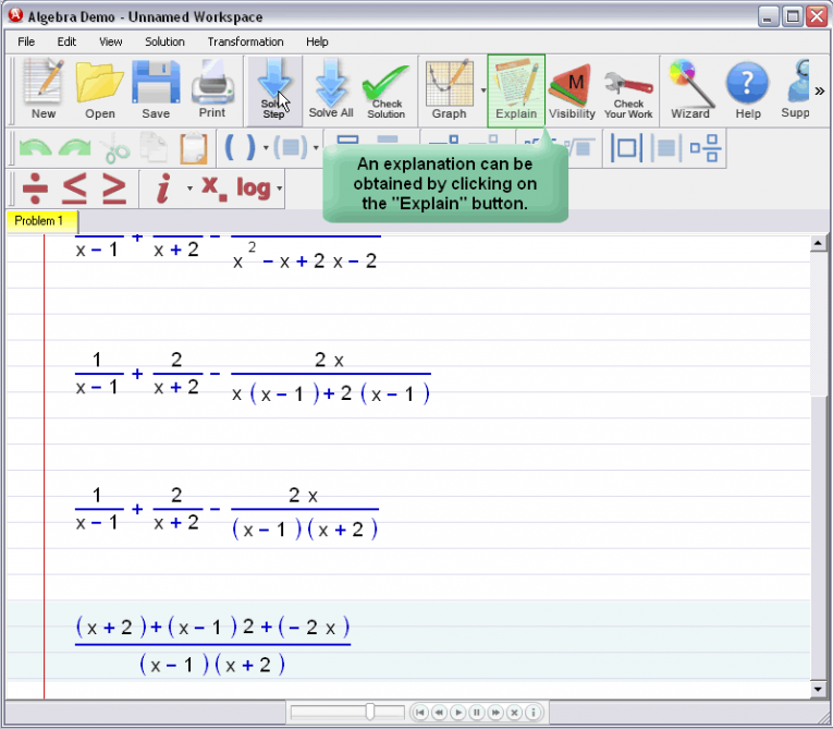 picture 2 for demo on Adding And Subtracting Fractions