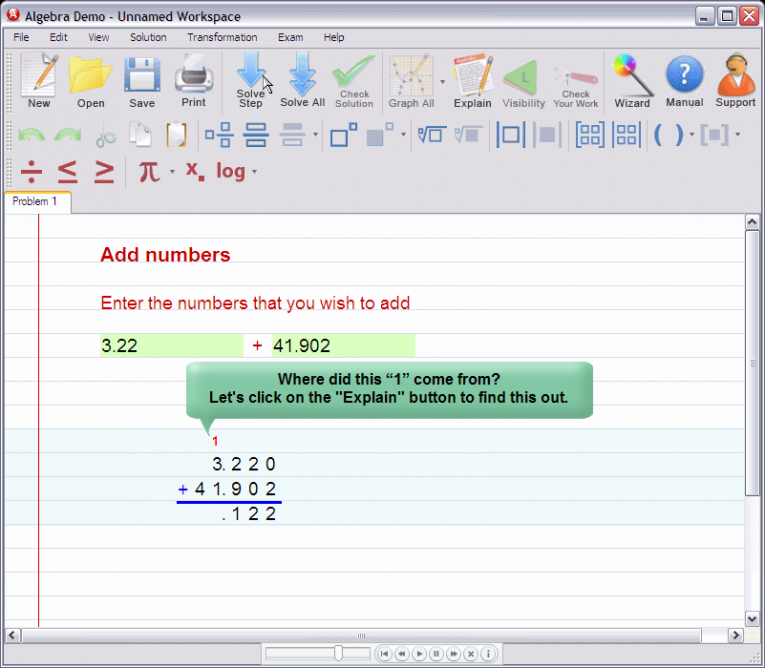 picture 3 for demo on Adding decimal numbers