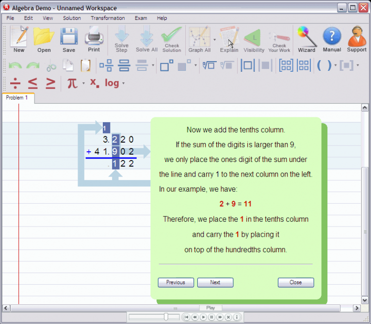 picture 4 for demo on Adding decimal numbers