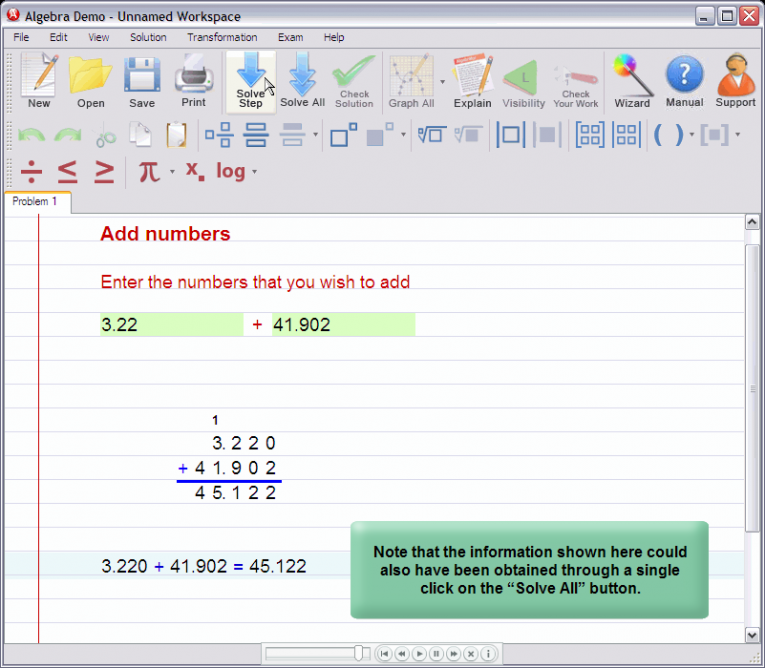 picture 5 for demo on Adding decimal numbers