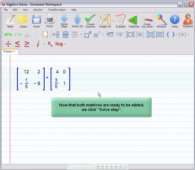 picture 1 for demo on Adding Matrices