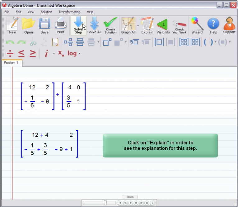 picture 2 for demo on Adding Matrices