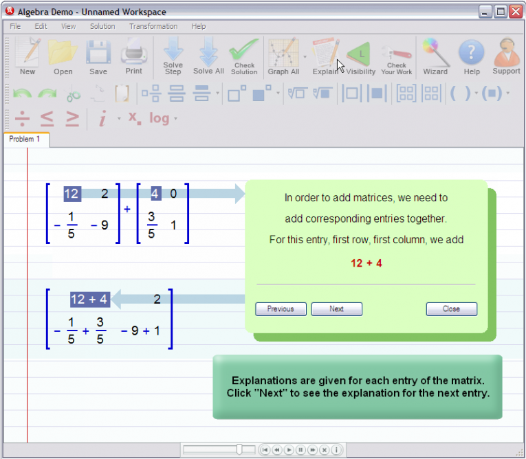 picture 3 for demo on Adding Matrices