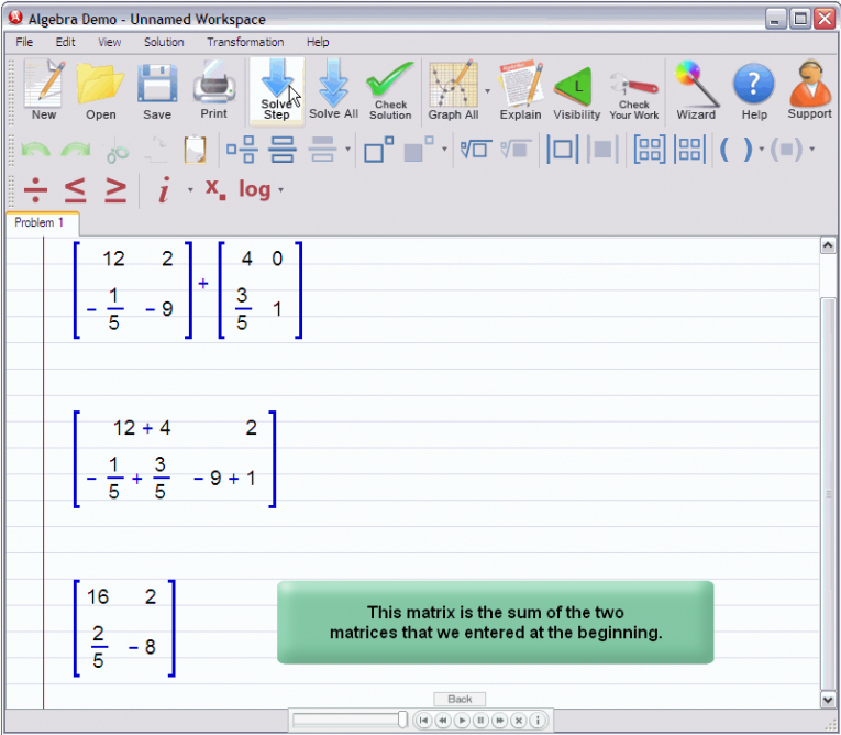 picture 4 for demo on Adding Matrices
