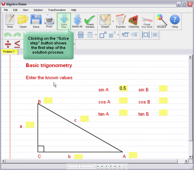 picture 3 for demo on Basic Trigonometry