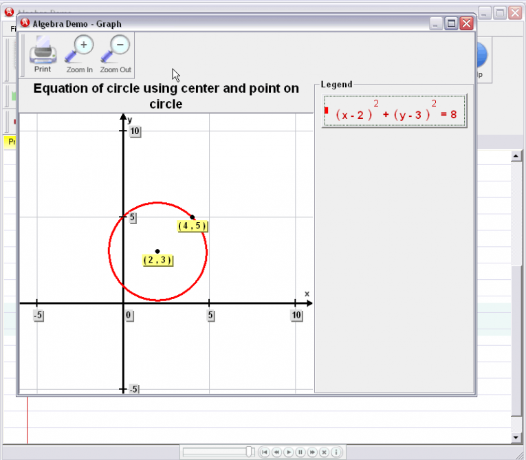 picture 6 for demo on Circle Equation