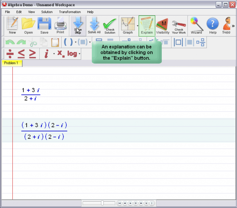 picture 2 for demo on Complex Numbers
