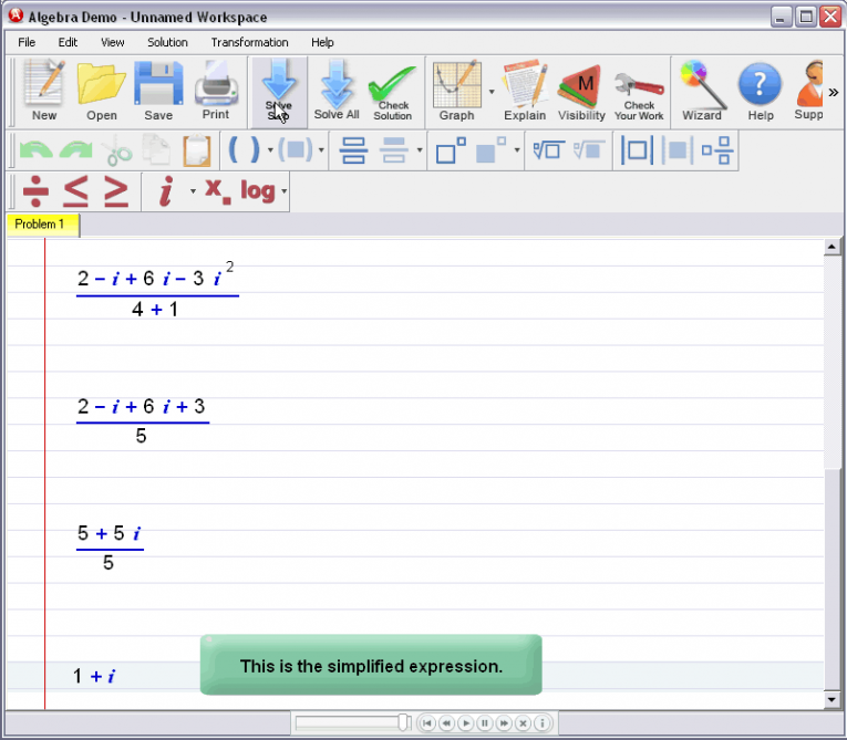 picture 4 for demo on Complex Numbers
