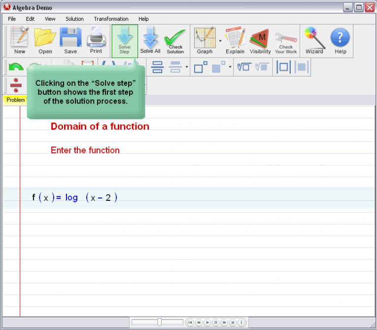 picture 1 for demo on Domain Of A Function