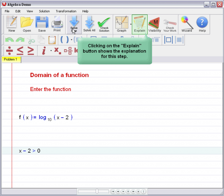 picture 2 for demo on Domain Of A Function