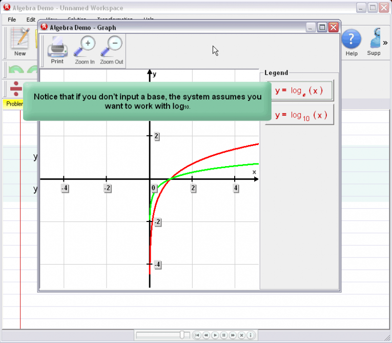 picture 7 for demo on Entering Logarithmic Expressions