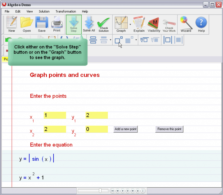 picture 3 for demo on Graphing Curves And Points
