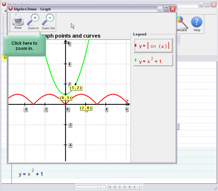 picture 4 for demo on Graphing Curves And Points
