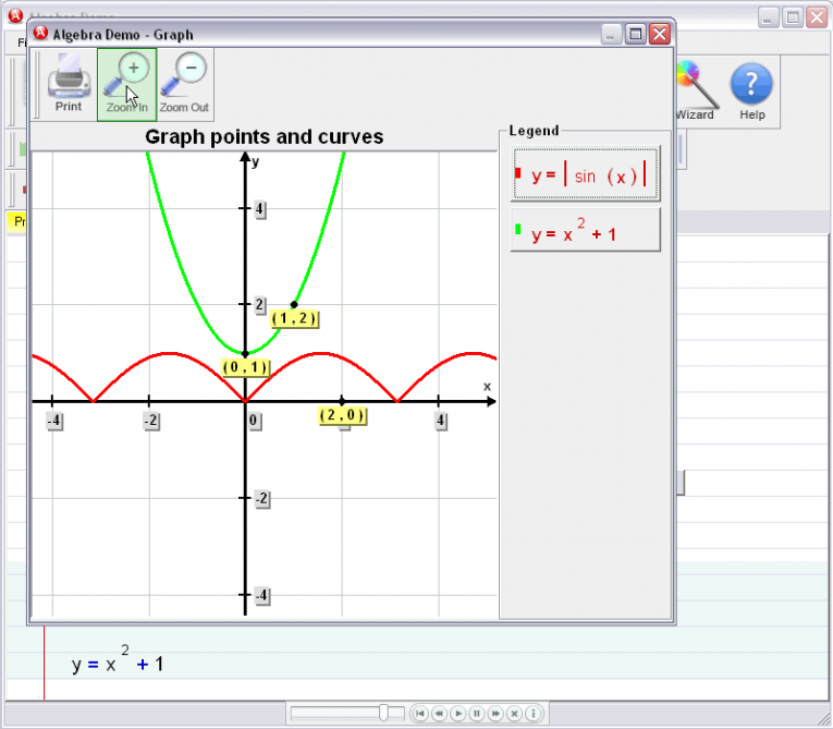 picture 5 for demo on Graphing Curves And Points