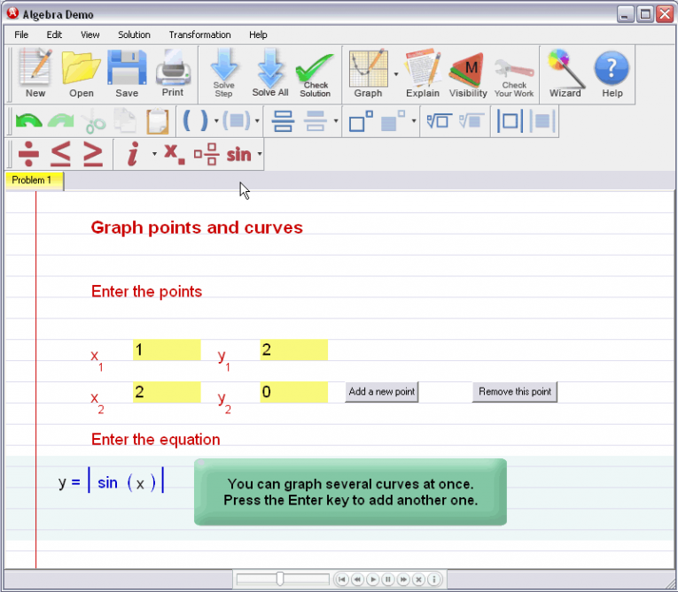 picture 2 for demo on Graphing Curves And Points