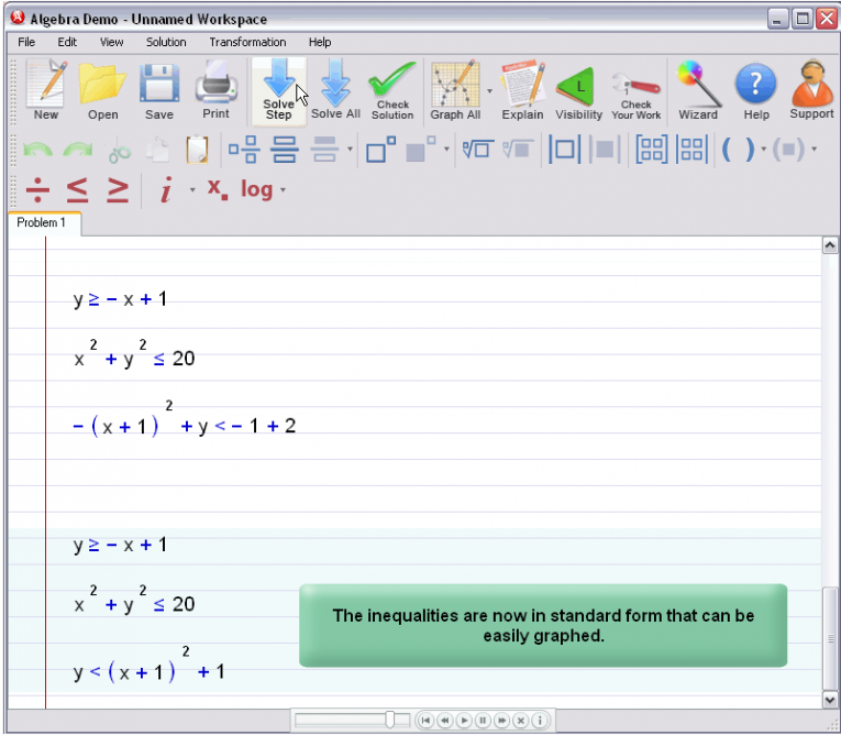 picture 2 for demo on Graphing Inequalities