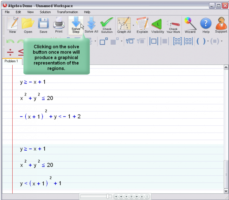 picture 3 for demo on Graphing Inequalities