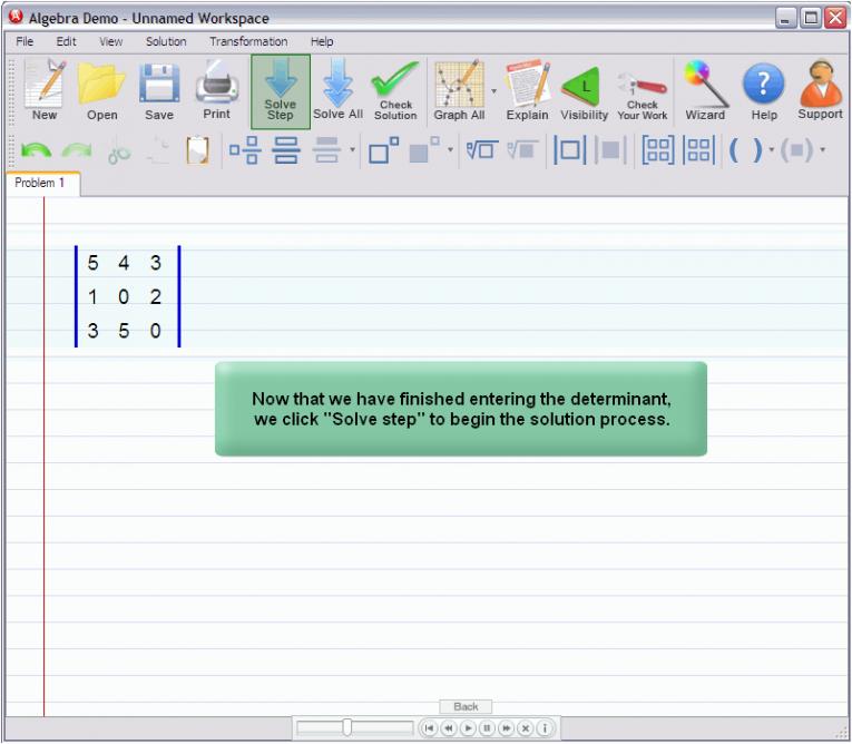 picture 1 for demo on Matrix Determinant