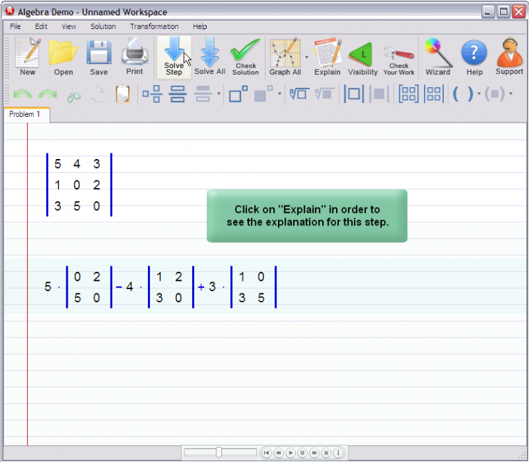 picture 2 for demo on Matrix Determinant