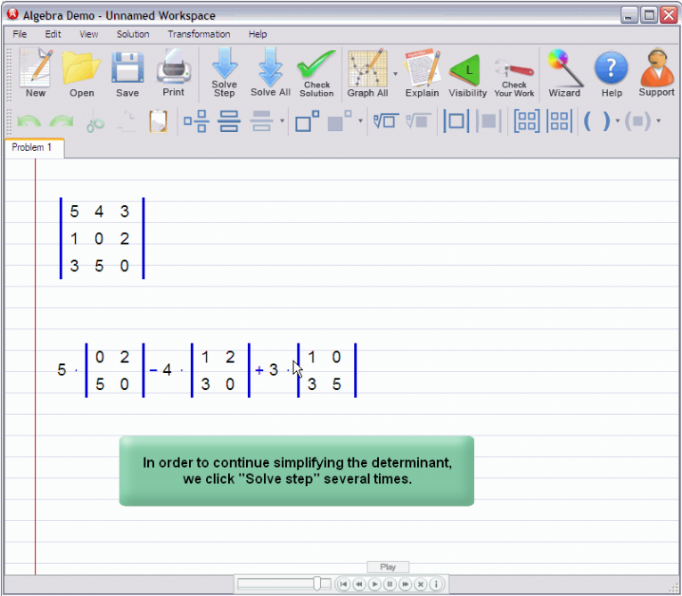 picture 4 for demo on Matrix Determinant