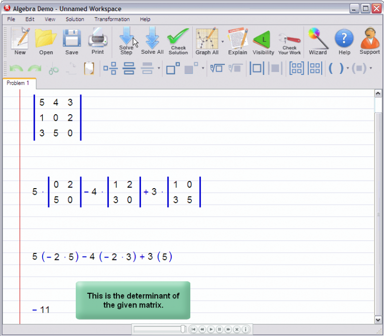 picture 5 for demo on Matrix Determinant