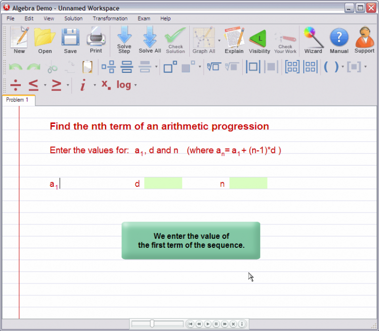 picture 1 for demo on Nth term of an arithmetic progression