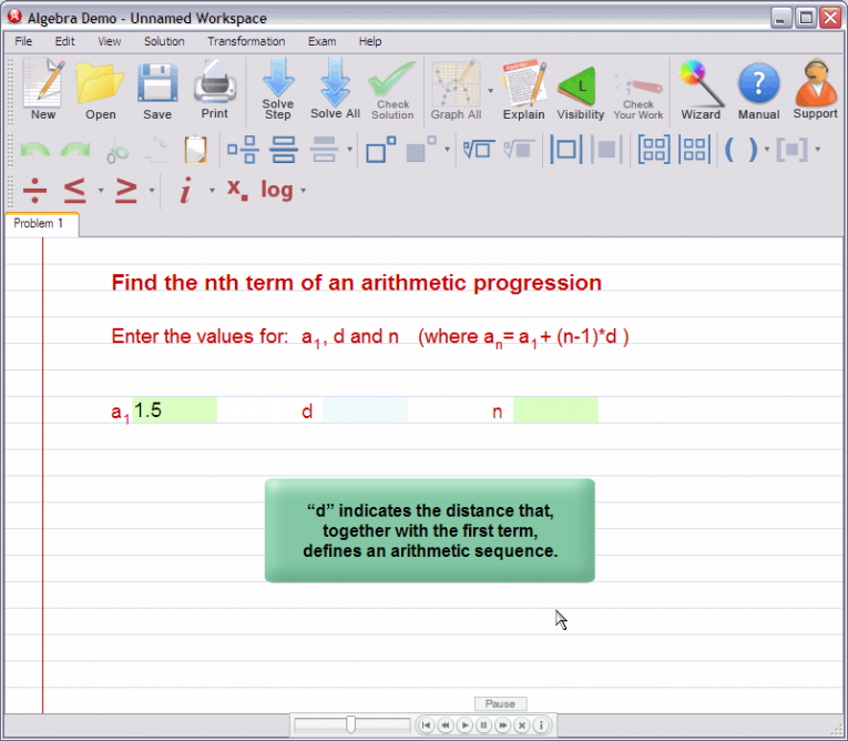 picture 2 for demo on Nth term of an arithmetic progression