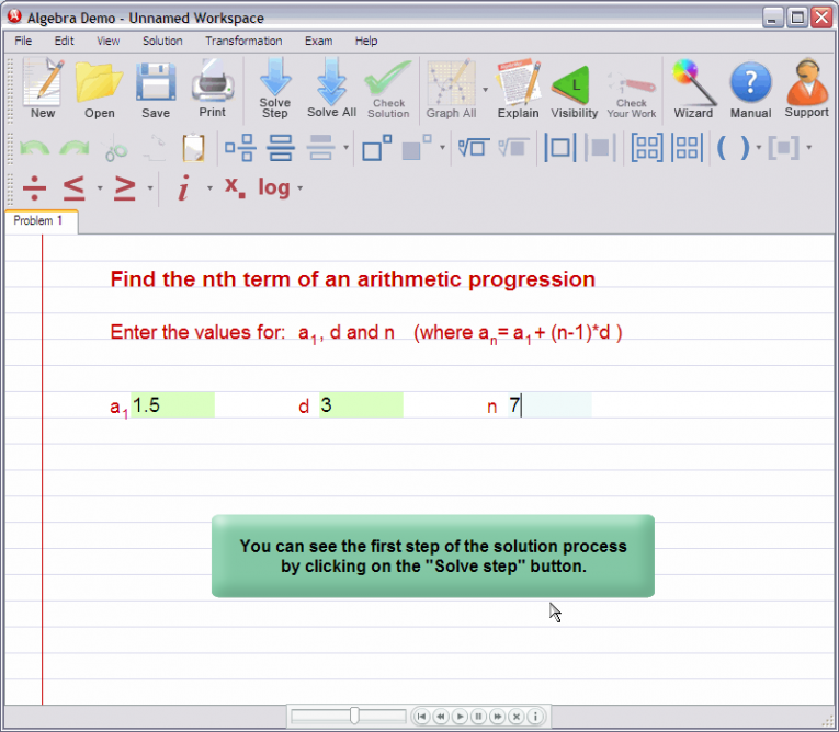 picture 3 for demo on Nth term of an arithmetic progression