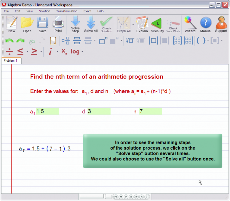 picture 5 for demo on Nth term of an arithmetic progression