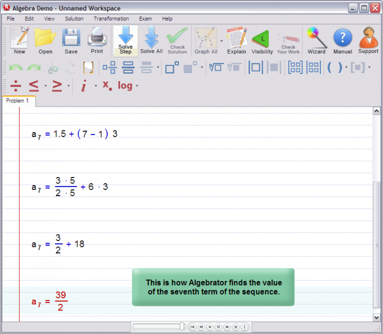 picture 6 for demo on Nth term of an arithmetic progression