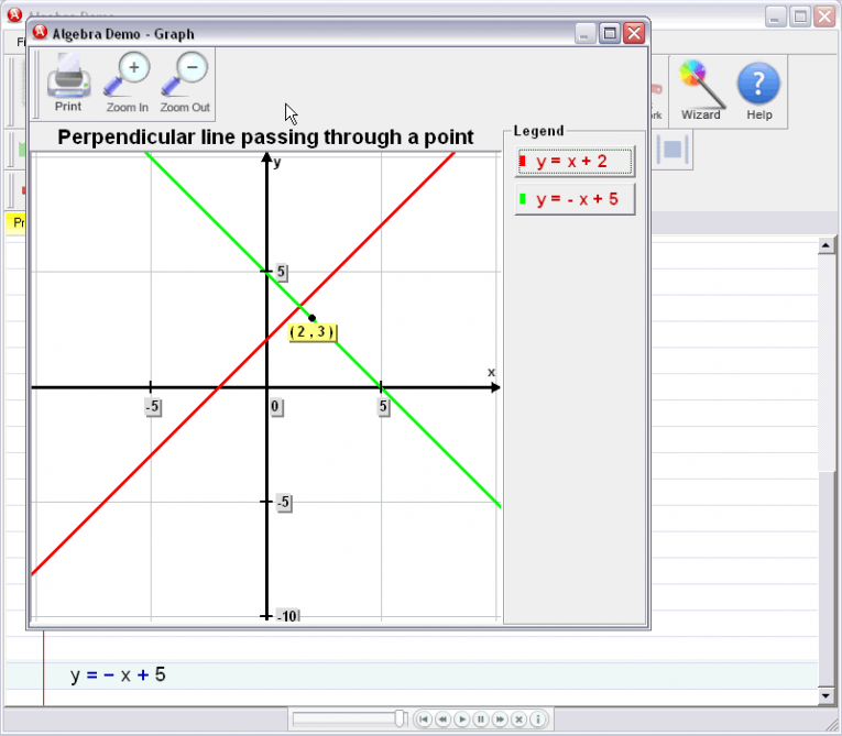 picture 5 for demo on Perpendicular Line Equation