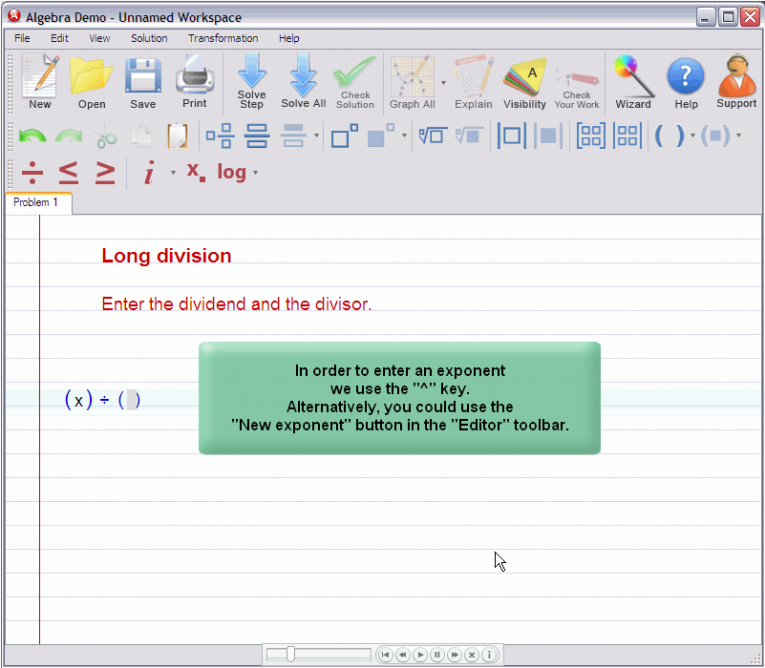 picture 1 for demo on Polynomial Long Division