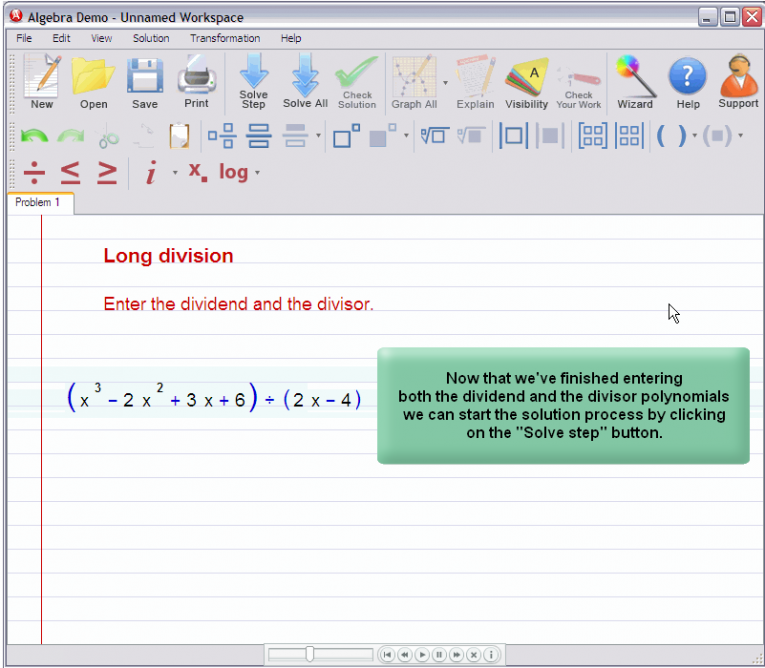 picture 2 for demo on Polynomial Long Division