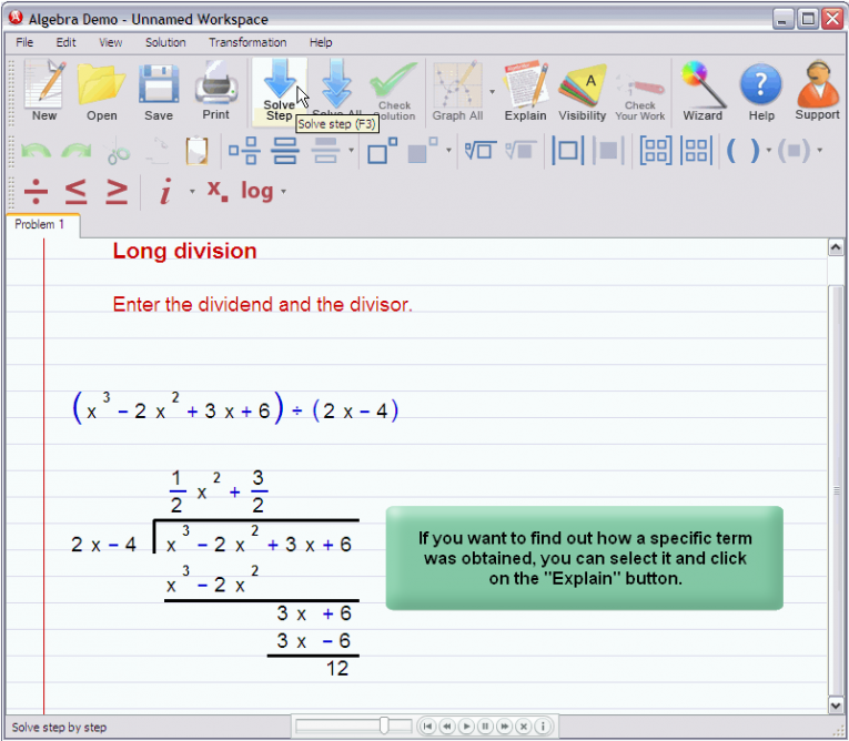 picture 3 for demo on Polynomial Long Division