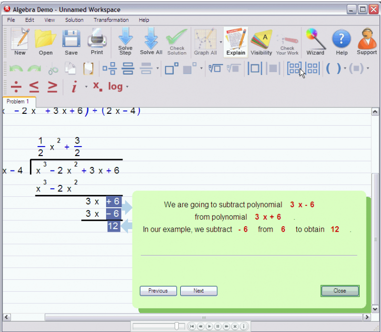 picture 5 for demo on Polynomial Long Division