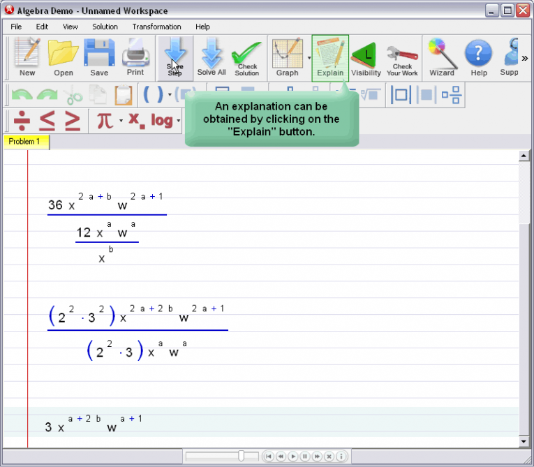 picture 2 for demo on Simplifying Exponential Expressions
