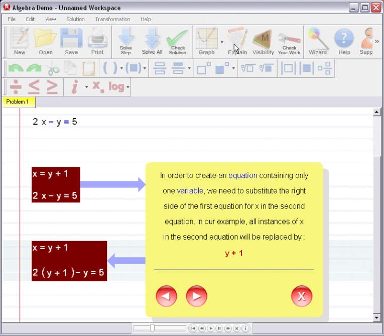 picture 3 for demo on Solving Systems Of Equations