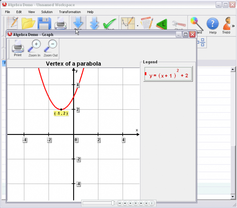 picture 6 for demo on Vertex Of A Parabola