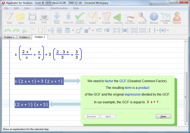 how to solve a quadratic trinomial with coefficient