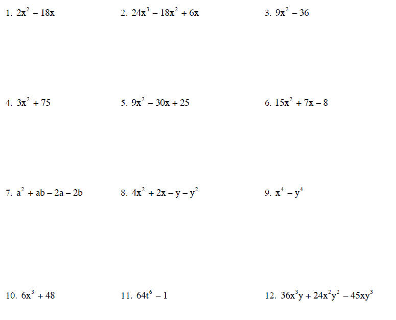 Homework help with factoring