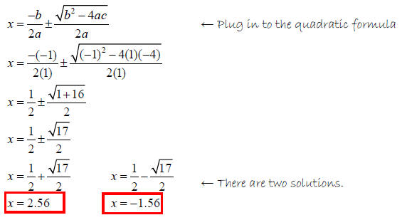 quadratic formula4 – Quadratic Formula Worksheet