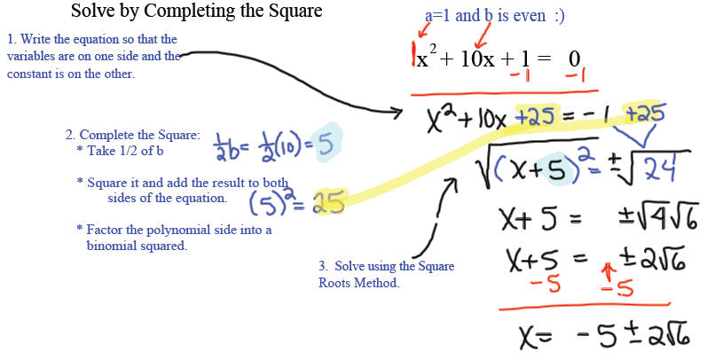 Two Methods For Solving Quadratic Equations