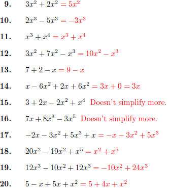 math worksheet : on exponents and like terms : Adding With Exponents