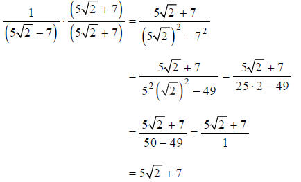 how to get rid of radical in denominator