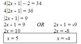practice test over linear equations and inequalities